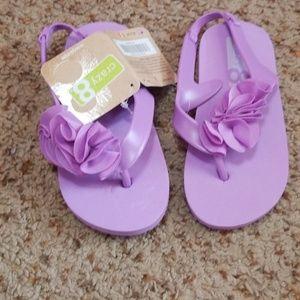 Girls purple sandals NWT !CRAZY 8